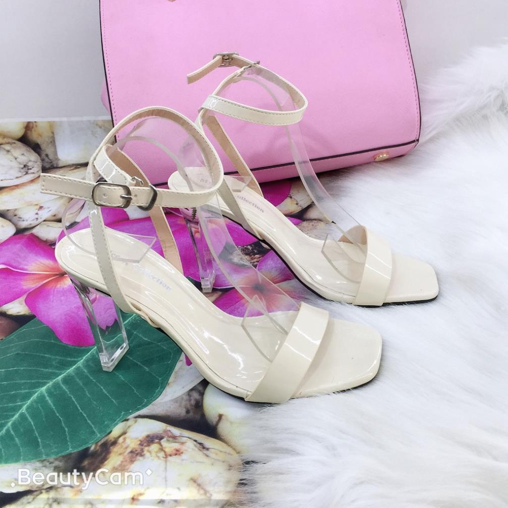 Giày Sandal Cao Gót Đế Trong Suốt  Giày Nữ Xinh Cao Cấp