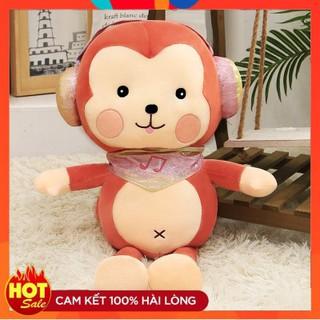 Gấu Bông Thú Nhồi Bông💖Gấu Bông Khỉ Con Nghe Nhạc 50 cm