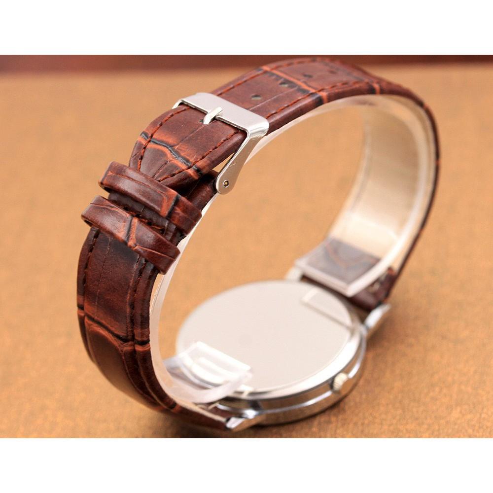 Đồng hồ nam dây da thời trang phong cách Hàn Quốc cực đẹp Modiya DH97