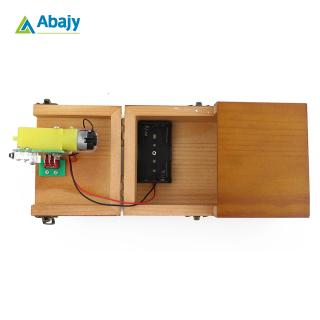 Fully Assembled Turns Itself Off Useless Box Leave Me Alone Machine Box with Real Wood for Geek or