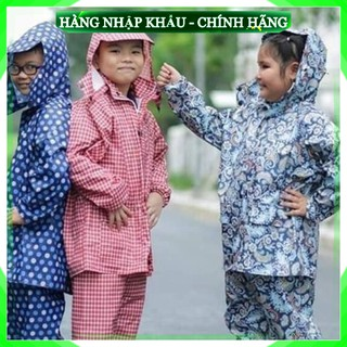 [LOẠI 1 – Freeship] Áo mưa bộ trẻ em vải dù họa tiết ngộ nghĩnh cho bé, hàng Việt Nam chất lượng cao cấp