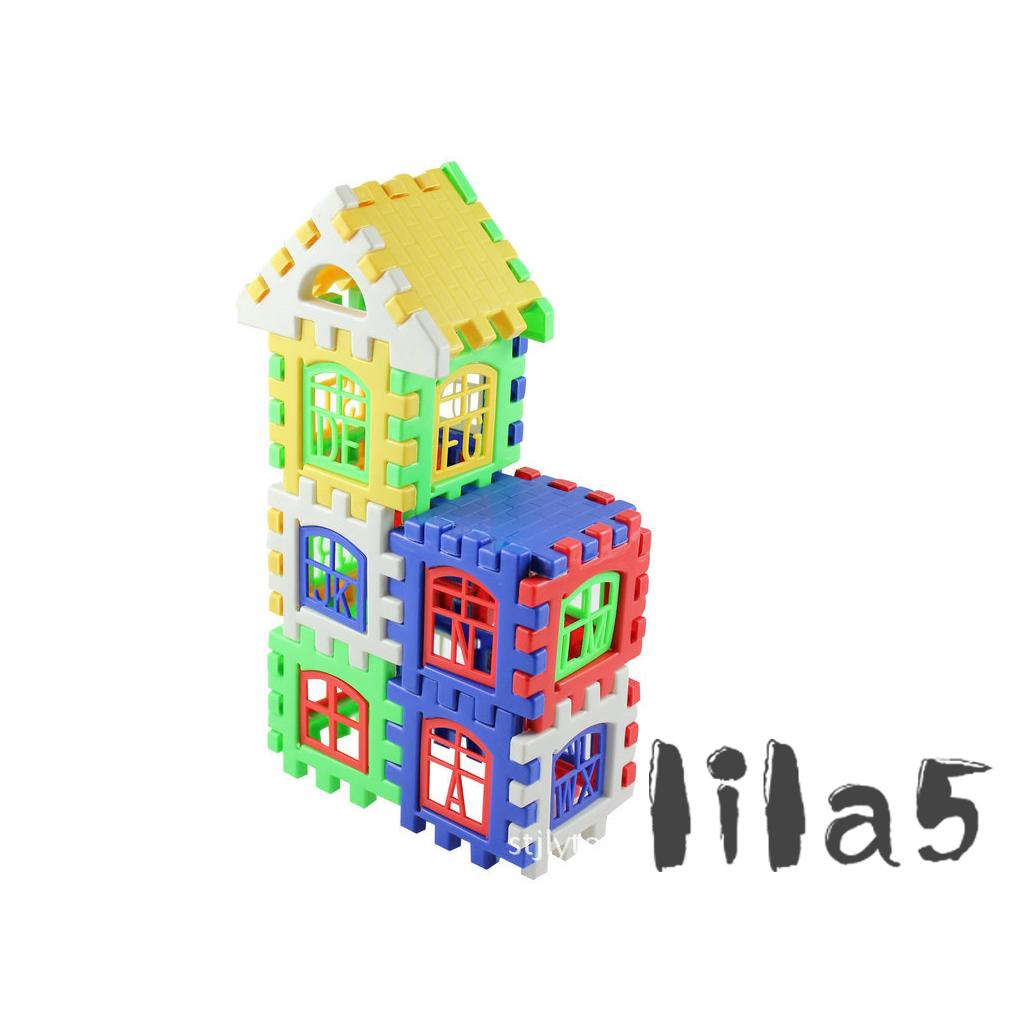 ღ☭24pcs Creative Colorful Plastic Building Blocks Children Educational Toy Gift