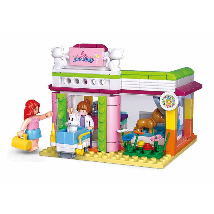 Bộ đồ chơi lắp ghép cửa hàng thú cưng 195 mảnh đáng yêu cho bé