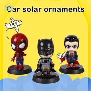 NR The Avengers Iron Man Captain America Action Figures Dancing Flip Flap Super Hero Car Home Decor Desk Dancer Bobble Kids