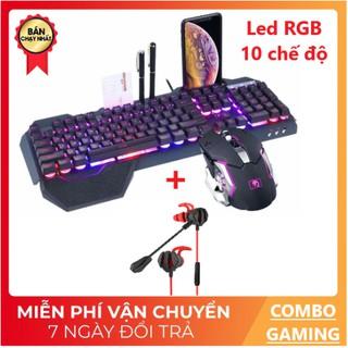 [COMBO GAMING] Bàn Phím K618 LED RGB 10 Chế Độ Chuột LED V5 Và Tai Nghe G6 Chơi Game Cực Đã thumbnail