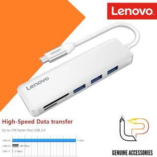 BỘ CHUYỂN USB TYPE-C RA 3 USB 3.0 + SD + TF LENOVO C605SL - MULTIPORT HUB TYPE-C -> 3 USB 3.0 + SD + TF LENOVO C605SL