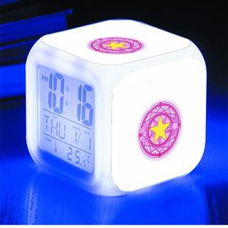 Đồng hồ báo thức để bàn in hình Cardcaptor Sakura - Thủ Lĩnh Thẻ Bài anime LED đổi màu