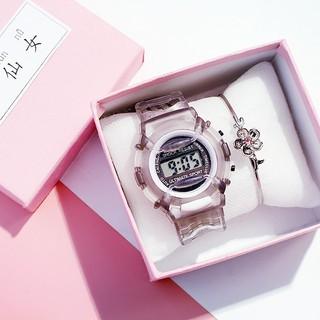 Đồng hồ điện tử unisex kiểu dáng thể thao thời trang dây cao su candycat 18 Bán lẻ giá sỉ