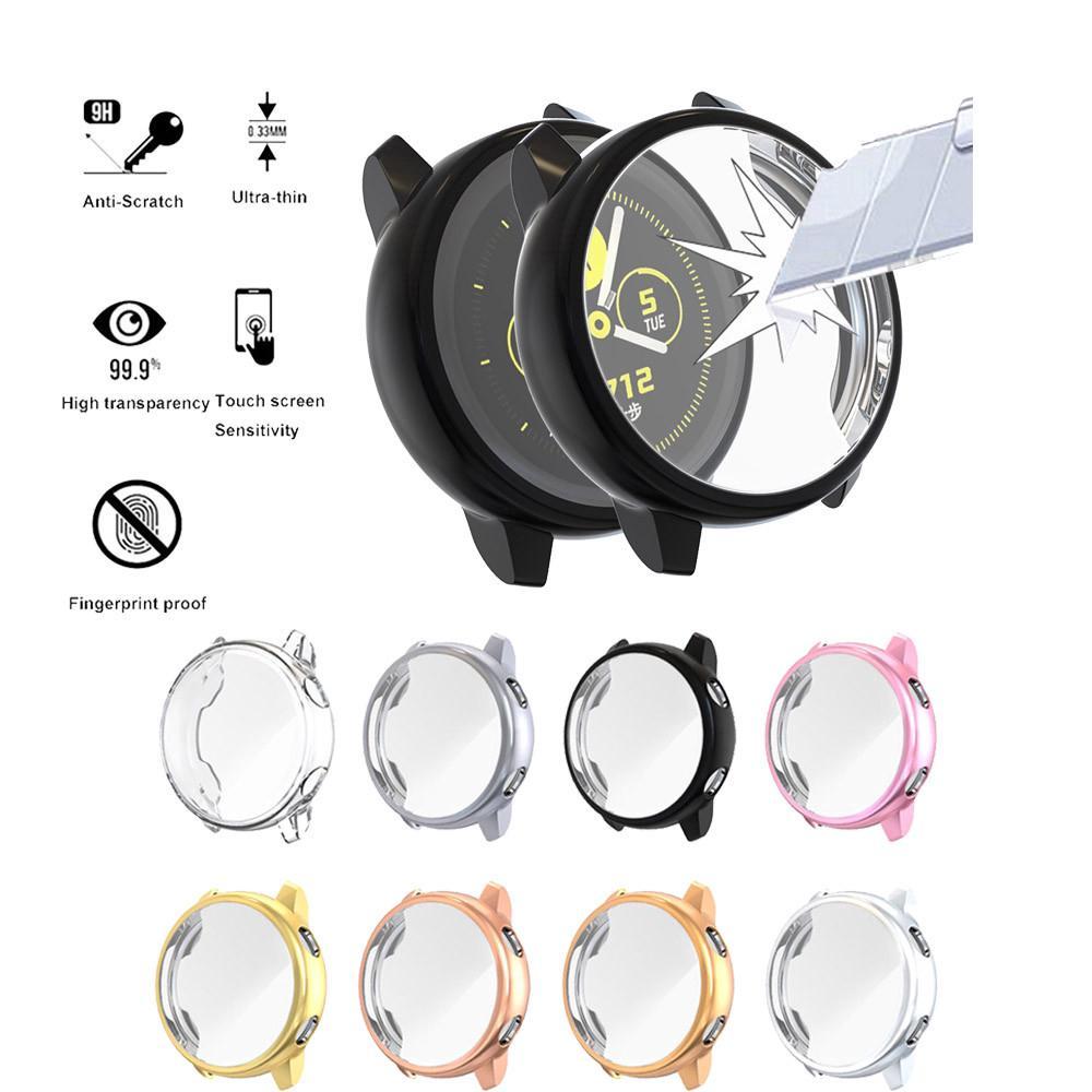 Ốp TPU mềm mặt kính bảo vệ cho đồng hồ Samsung Galaxy Watch Active 1 2 40mm 44mm