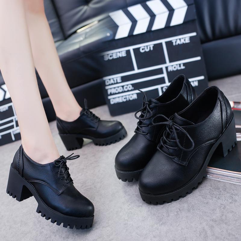 Giày oxford cao gót 7cm loại 1 chất da siêu đẹp -5950 kèm ảnh tự chụp không chỉnh sửa