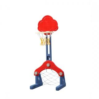 Toyhouse - L-LQJ18- Bộ đồ chơi thể thao đa năng cho bé bóng đá, ném vòng,bóng rổ, màu đỏ - hình đám mây