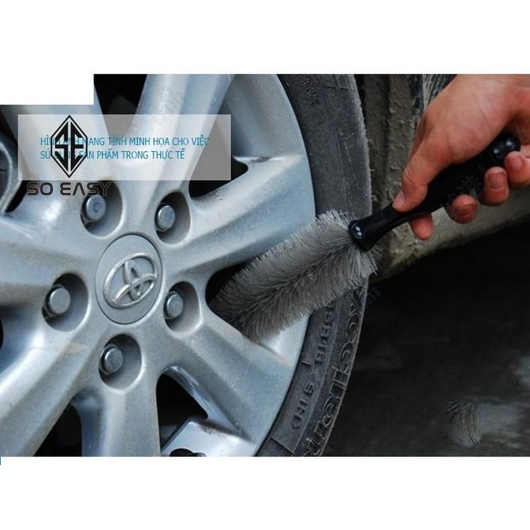Chổi cọ, dụng cụ nhựa chà rửa mâm, bánh xe ô tô, xe hơi, xe tải, xe máy, xe tay ga siêu sạch _ RX16