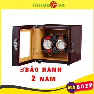 Hộp Lắc 2 Đồng Hồ Cơ Vỏ Gỗ Sơn Mài - Mã 802P thumbnail