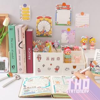 Hộp Đựng Bút Để Bàn Học Đa Năng Cao Cấp Cute Rosy Posy 💖 Giá Chặn Sách Kệ Tủ Nhựa Mini Phụ Kiện Decor Trang Trí Hàn Quốc