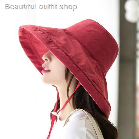 2019 creative new spring and summer fisherman hat foldable empty top big brim sunshade cloth solid color sunscreen basin hat<