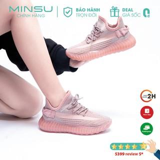 Giày Nữ Phản Quang MINSU M3711, Giày Thể Thao Sneaker Bata Nữ Hàn Quốc Phản Quang Cực Chất Mang Đi Chơi, Đi Học