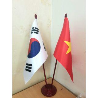 Đế cắm cờ đôi Việt Hàn