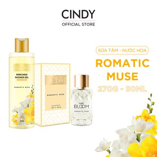 Combo Sữa Tắm Nước Hoa 270g & Nước Hoa 50ml Cindy Bloom Romantic Muse thumbnail