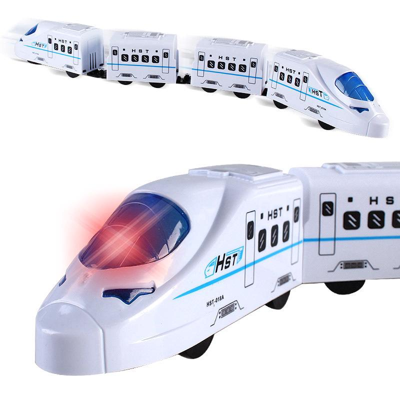 New Style Kids Toys Electric Flash Music Train Model Toys Children Birthday Gift