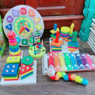 Combo 7 món đồ chơi gỗ cho bé