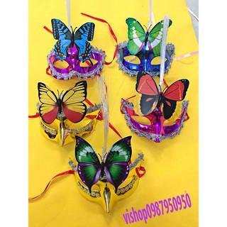 (M01) mặt nạ hóa trang lông vũ-o22