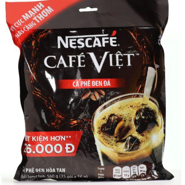 Cà phê đen đá hòa tan Nescafe cà phê Việt