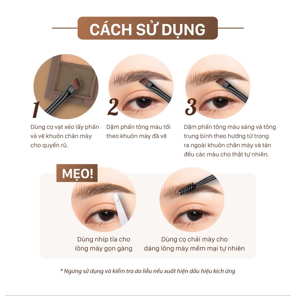 Bột vẽ chân mày Cathy Doll Trio Eyebrow Kit 1g x 3Colors | Shopee Việt Nam