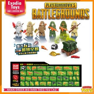 Minifigure 6 nhật vật PUBG + 5 bộ trang phục Khỉ ngụy trang – Đồ Chơi Lắp Ghép Sáng Tạo – PlayerUnknown's Battlegrounds