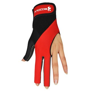 ECOG 1 PCS Pool Cue Gloves Billiard Three Cut Gloves Left Hands Gloves Billiard Accessories