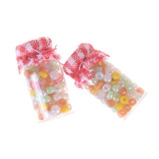 2pcs 1:12 Dollhouse Miniature Glass Candy Canister Mini jar Food Decor