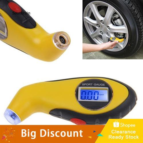 STRN_Digital LCD Display Tire Air Pressure Gauge Tester for Auto Car Motorcycle