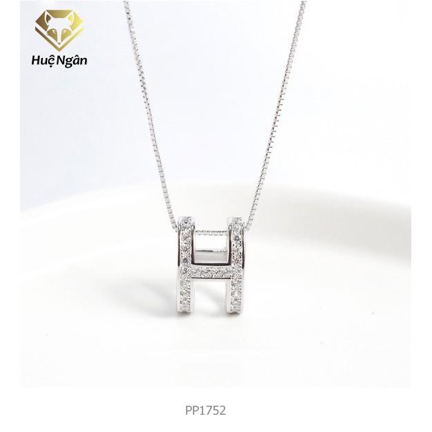 Dây chuyền bac Ý 925 Huệ Ngân - Chữ H-Heart Biểu tượng trái tim P