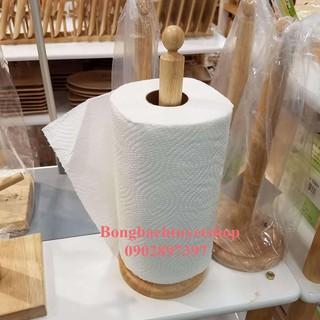 Cây để giấy đứng gỗ Đức Thành 2243 – Cây để giấy, ráp sẵn Đức Thành – Cây để giấy cuộn 2 trong 1 Gỗ Đức Thành