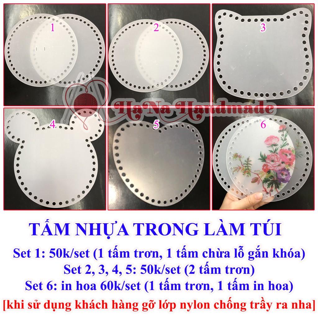 Tấm nhựa tròn trong làm túi 18cm (2 cái)