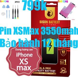 Pin iPhones XS Max dung lượng cao 3550mah Bison chính hãng thumbnail