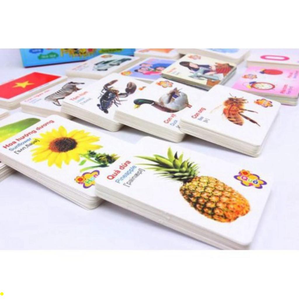[ MẪU MỚI ] Bộ 450 Thẻ Học 16 CHỦ ĐỀ  Thẻ học Thông Minh Song Ngữ tiếng VIỆT - ANH Cho Bé