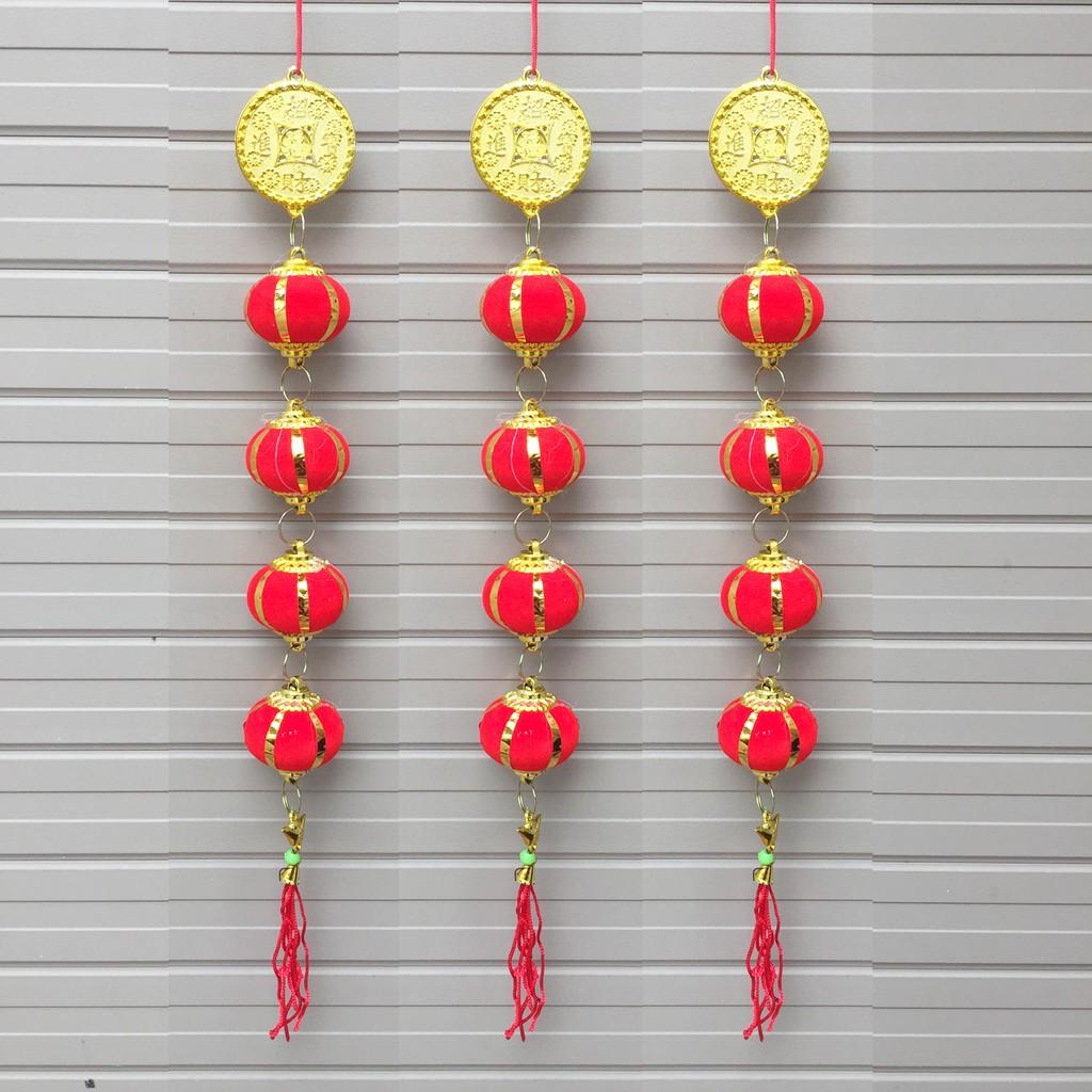 Combo 3 Dây quả cầu đỏ 40cm trang trí Tết