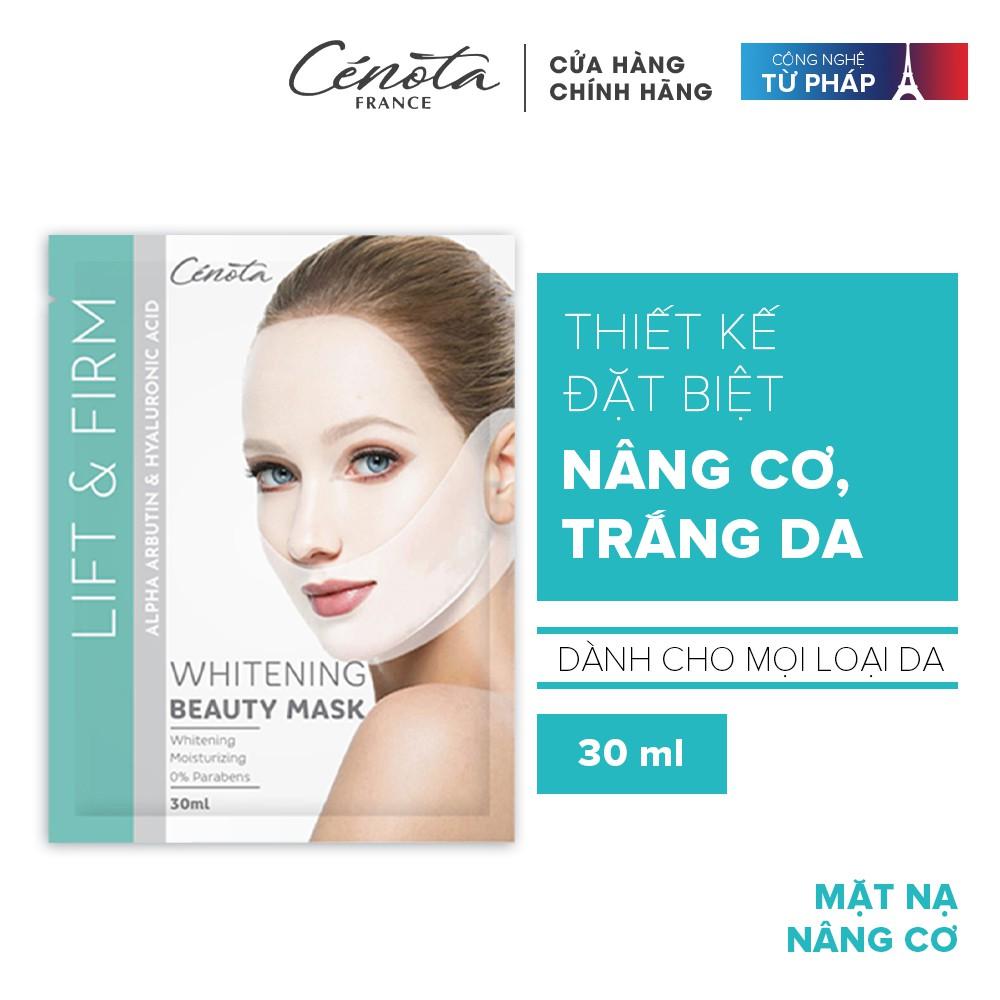 Hộp mặt nạ nâng cơ dưỡng trắng Cénota 6 miếng 180ml