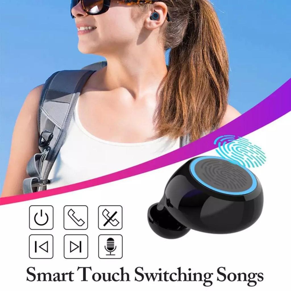 (CAO CẤP) Tai Nghe Bluetooth Không Dây HBQ-TWS - Chống Nước IPX7 - Nghe 90h - Tích Hợp Micro - Tự Động Kết Nối - Nhỏ gọn