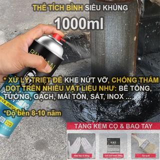 1000ml – Bình xịt sơn chống thấm trần nhà Bixuan dung tích lớn, chống thấm tường công nghệ Thụy Sĩ