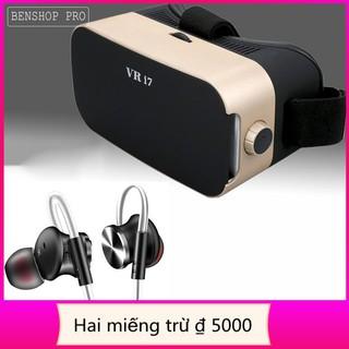 [kho sẵn sàng] Bộ combo kính thực tế ảo cho smartphone VR i7 & tai nghe Fonge W3