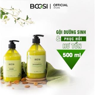 Combo dầu gội & mặt nạ dưỡng sinh phục hồi tóc hư tổn và chăm sóc da đầu Bcosi Recovery Damage 1000ml thumbnail
