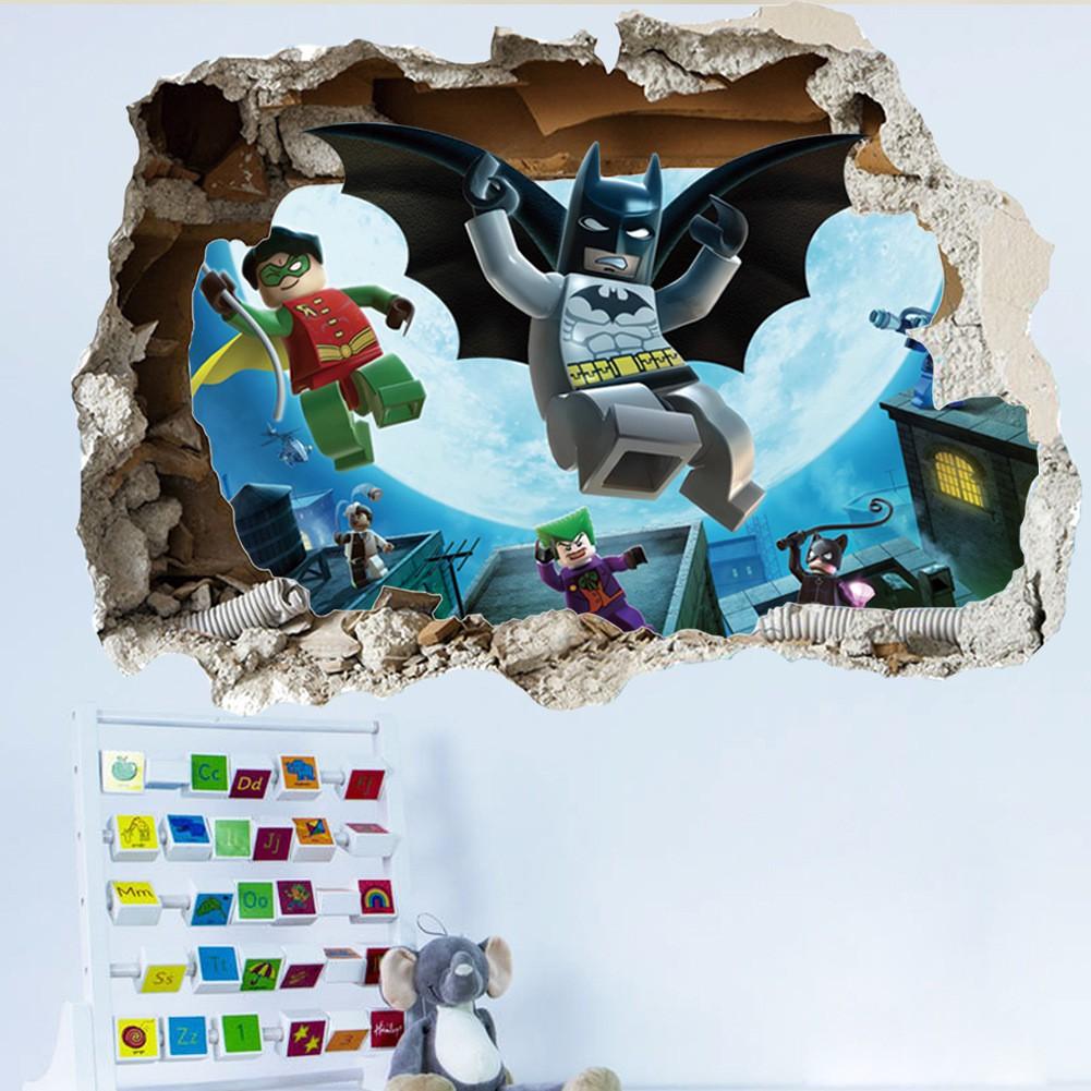 Cool Batman Art Vinyl Wall Stickers Wall Decals Mural Kids Nursery Home Decor