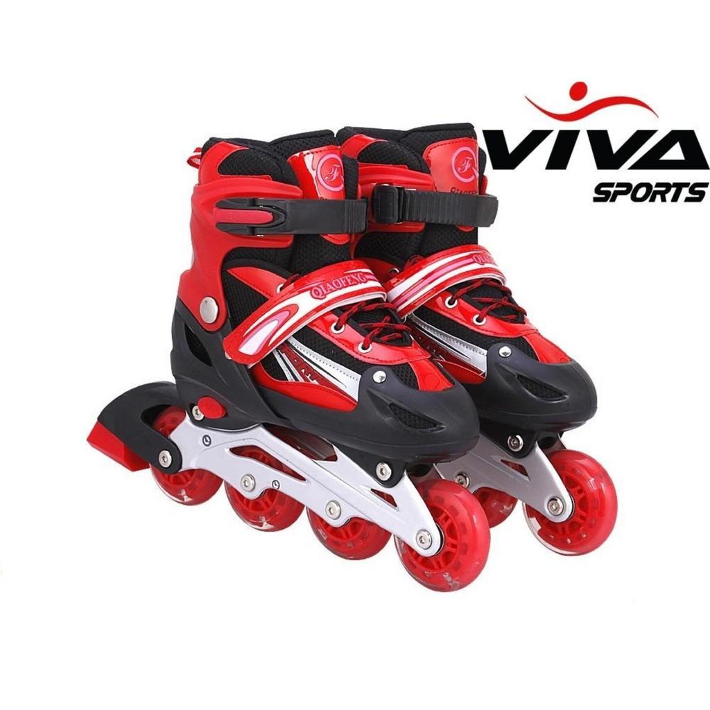 Combo Giày kèm Mũ + bảo vệ patin phát sáng, Màu Đỏ