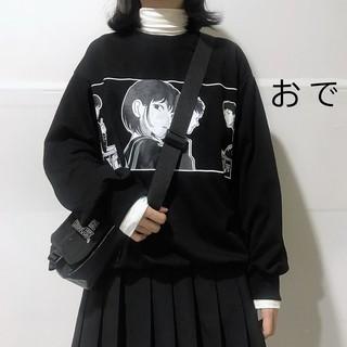 áo thun sweater cổ tròn in hình hoạt hình