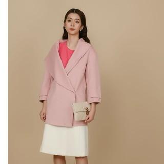 Áo khoác măng tô dạ hồng lông cừu Elise thumbnail