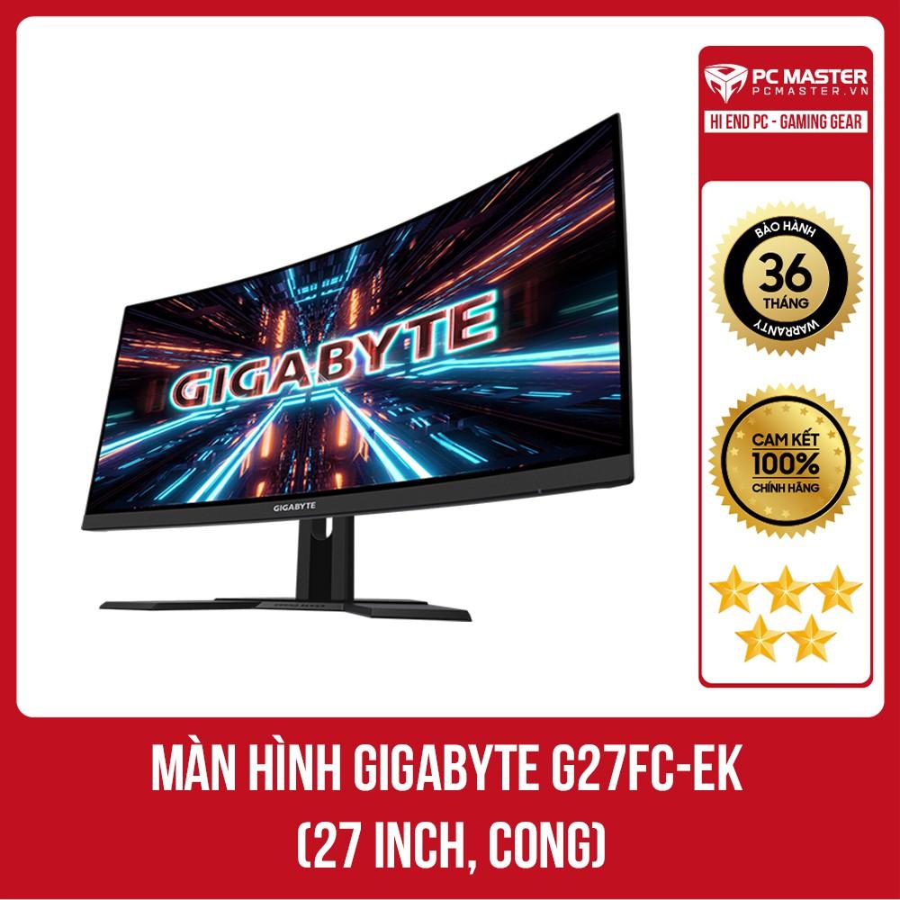 Màn hình Gigabyte G27FC-EK (27 inch/FHD/VA/165Hz/1ms/250 nits/HDMI+DP/Cong)