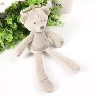 SOO-Newborn Cute Kid Baby Boys And Girls Soft Plush Toys Plush Stuffed Adorable Bear pendant