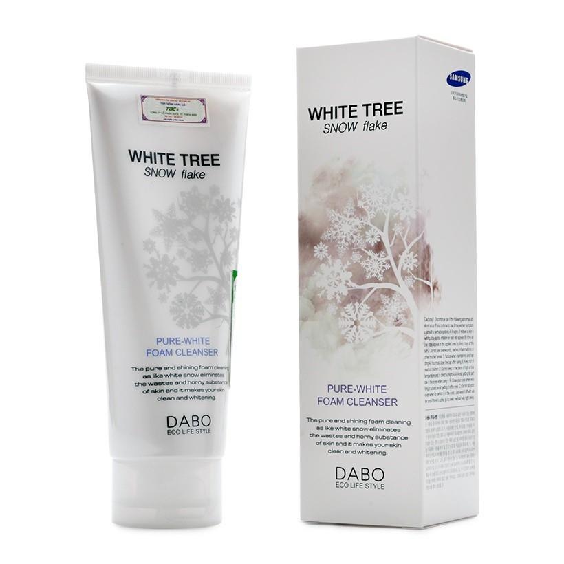Hàng Chính Hãng -Sữa Rửa Mặt Cây Tuyết Trắng Trăng Mịn Da White Free Snow Flake Dabo 150ml