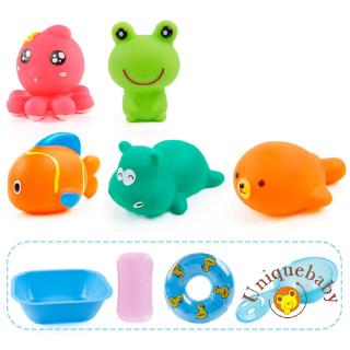 ☀UniMusic Animal Cartoon Water Children´s Bath Toys Set